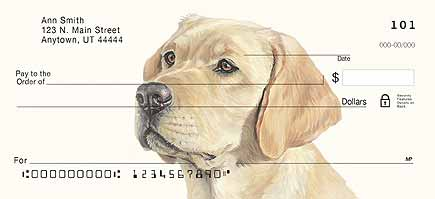 Yellow Lab Checks - Best Price on Yellow Labrador Personal